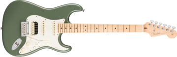Fender American Pro Stratocaster HSS Shawbucker, Maple Fingerboard, Antique Olive