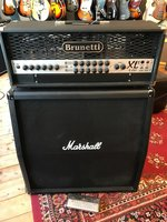 Brunetti R-Evo XL ll + Marshall Cabinet en Footswitch