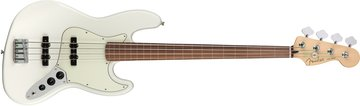 Player Jazz Bass¨ Fretless, Pau Ferro Fingerboard, Polar White