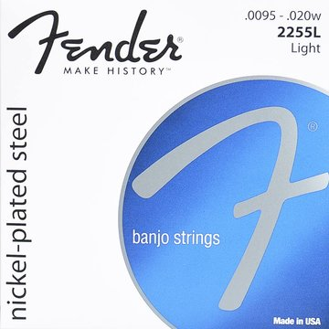 Fender snarenset tenorbanjo, nickel plated steel, light, 0095-010-013-020w-0095 loop end F-2255L