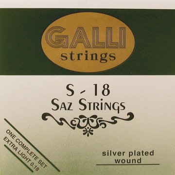 Galli snarenset saz, silverplated extra light 007-009-007-014-022 S-018