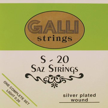 Galli snarenset saz, silverplated light 008-008-012-024-032 S-020