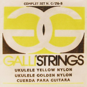 Galli snarenset ukelele, yellow nylon G-216-Y