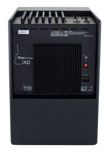 Acus acoustic instruments amplifier ONE FOR STRINGS AD, 350W, five channels, reverb, zwarte coating ONE-AD/BK
