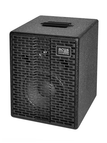 Acus acoustic instruments amplifier ONE FOR STRINGS EXT, 200W, master volume, zwarte coating ONE-EXT/BK