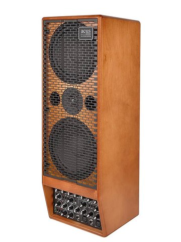 Acus stage enclosure STAGE 350, 350W, 2-kanaals, EQ, reverb, naturel hout ST-350