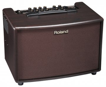 Roland AC-60-RW Compact Stereo Acoustic Amplifier, 2x 30W, Rosewood Cabinet