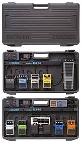 Boss BCB-60 Boss carrying case for up to 6 compact pedals, adapter incl
