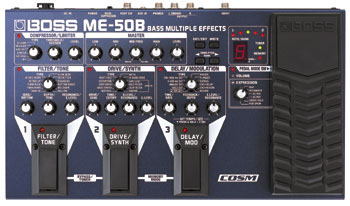 Boss ME-50B Bass Multi Effects Processor, (option : PSA-230S)