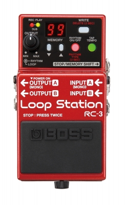 Boss RC-3(T) Loop Station, 3 hrs stereo recording time