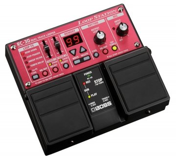 Boss RC-30 Twin Pedal, Dual Track Looper, 3 hrs stereo recording time (option : PSA-230S)