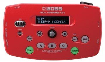 Boss VE-5-RD Vocal Processor w/ mic stand holder
