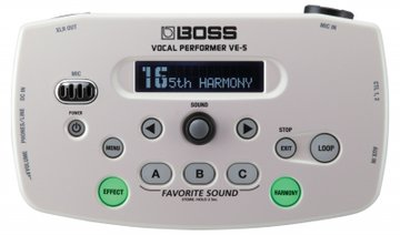 Boss VE-5-WH Vocal Processor w/ mic stand holder