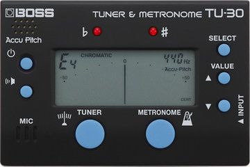 Boss TU-30 Tuner/Metronome, (color black)