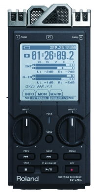 Roland R-26 3-Way Mic Portable Recorder
