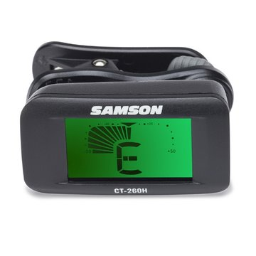 Samson CT260H Chromatische clip-on tuner met horizontaal LCD display