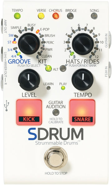 Digitech SDRUM ritme-effectpedaal