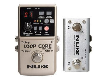 NUX loop pedal bundle LOOP CORE DELUXE, with NMP-2 footswitch