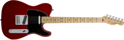 Fender American Standard Telecaster, Maple Fingerboard, Crimson Red Transparent (Ash)